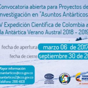 Programa Antártico Colombiano, a través de la Comisión Colombiana del Océano.