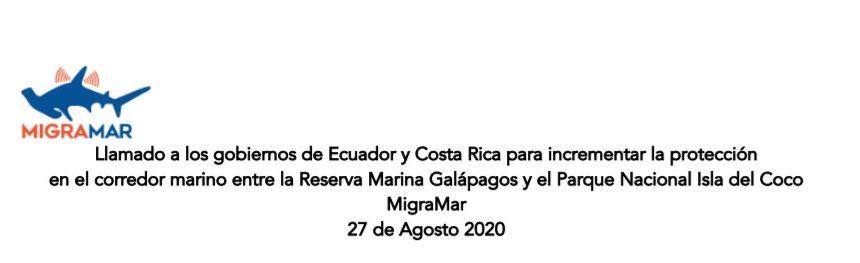Llamado a los gobiernos de Ecuador y Costa Rica- MIGRAMAR